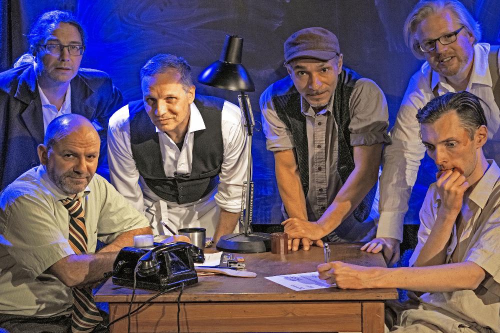 Frank Berger, Thorsten Giese, Armin Zarbock, Raschid D. Sidgi, August Geyler, Claudius Bruns. Foto: Maria Notacker