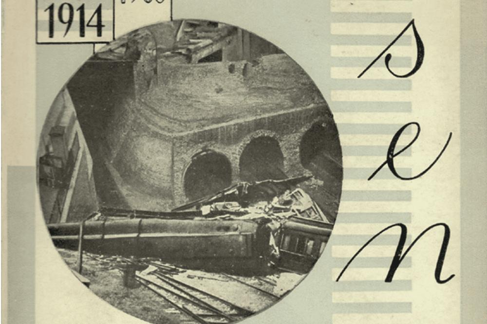 H. G. Wells: Sen, 1924. Fotomontage von Jindřich Štyrský. Abbildung: SLUB Dresden