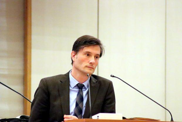 Ordnungsbürgermeister Heiko Rosenthal im Stadtrat Leipzig. Foto: L-IZ.de