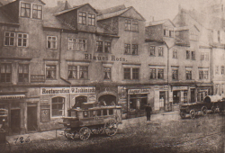 Hermann Walter, Gasthof Blaues Ross am Königsplattz, Leipzig, 1870. Quelle: Andreas J. Mueller