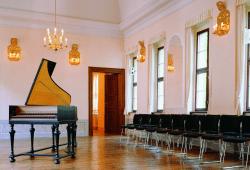 Im Sommersaal des Bach-Museums Leipzig finden Konzerte statt. © Bach-Museum Leipzig/Martin Klindtworth