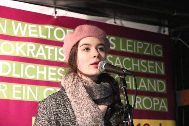 Selma Roth vom Landesschülerrat und dem Leipziger Jugendparlament. Foto: L-IZ.de