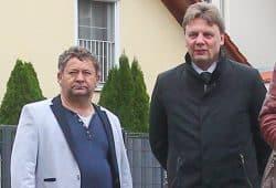 FVSL-Geschäftsführer Uwe Schlieder (links) und Präsident Dirk Majetschak. Foto: Jan Kaefer