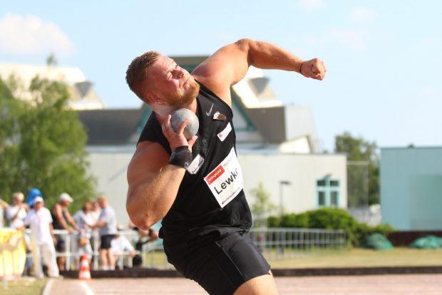Dennis Lewke (kam vom SC Magdeburg) will als Leipziger die 20-Meter-Marke knacken. Foto: Jan Kaefer