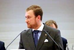 Michael Weickert (CDU) im Stadtrat Leipzig. Foto: L-IZ.de