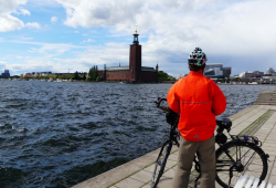 Mit dem Rad in Stockholm © Gundolf Schmidt