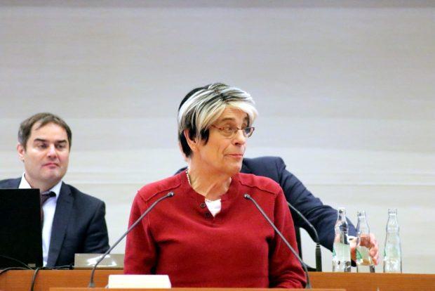 Naomi-Pia Witte (Freibeuter, FDP) im Stadtrat Leipzig. Foto: L-IZ.de