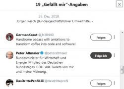 Peter Altmaier findets gut? Screen Twitter