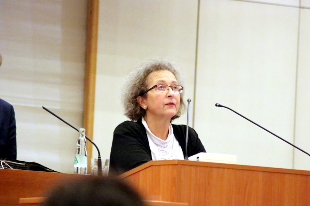 Sabine Heymann (CDU) am 23. Januar im Stadtrat. Foto: L-IZ.de