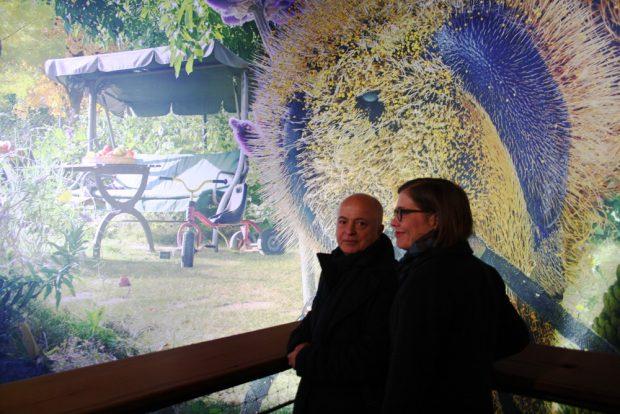 Yadegar Asisi und Skadi Jennicke im Panorama. Foto: Ralf Julke