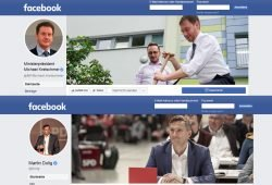 Facebook-Accounts von Michael Kretschmer und Martin Dulig. Screenshots: L-IZ