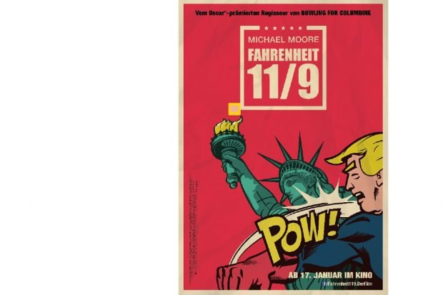 """Filmplakat zu """"Fahrenheit 11 / 9"""". Foto: Weltkino"""