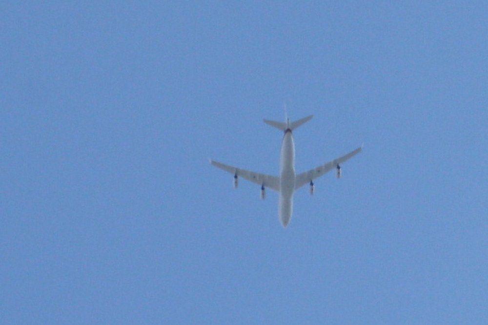 Großer Flieger auf Abkürzung. Foto: Ralf Julke