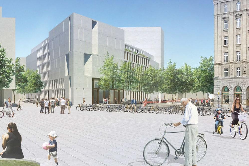 Der Siegerentwurf fürs IfL von Henchion Reuter Architekten, Berlin. Visualisierung: Henchion Reuter Architekten, Berlin