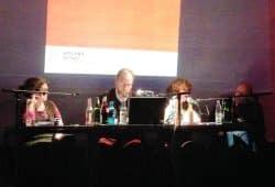 Cornelia Siebeck, Enrico Heitzer, Anetta Kahane und Martin Jander. Foto: Martin Jander