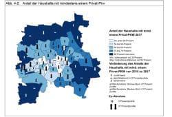 Pkw-Besitz nach Ortsteilen. Grafik: Stadt Leipzig, Bürgerumfrage 2017