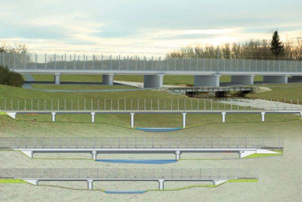 So sollen die neuen Brücken aussehen. Grafik: Deutsche Bahn