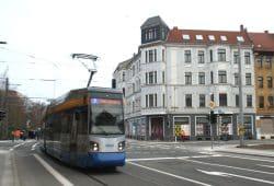Die Kreuzung Wurzener / Wiebelstraße. Foto: Ralf Julke