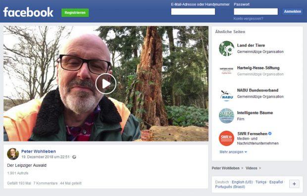 Peter Wohllebens Wortmeldung zum Leipziger Auenwald. Screenshot: L-IZ