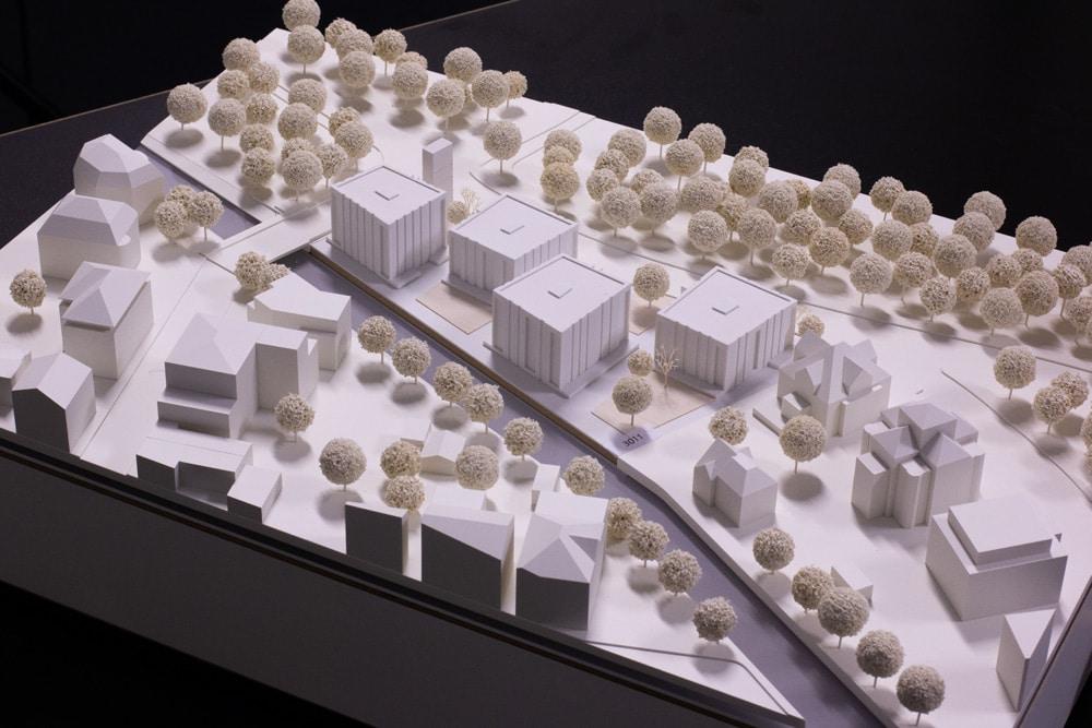 Visualisierung der geplanten Wohnbebauung am Elstermühlgraben. Grafik: W&V Architekten GmbH