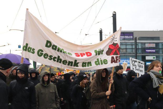Die SPD ist für ihren Kompromisshandel mit der CDU in der Kritik. Foto: Marco Arenas, L-IZ