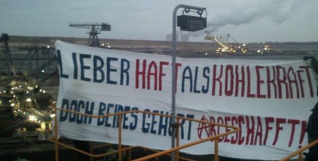 Protest gegen den Kohleabbau. Foto: Reisegruppe Digger