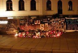 Gedenkstaette im Ranstädter Steinweg für den verstorbenen 16-Jährigen. Foto: L-IZ.de