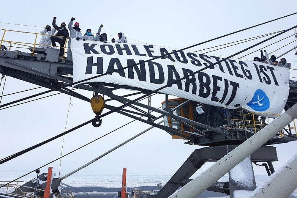 In der Lausitz - Ende Gelände bei einer dezentralen gemeinsamen Aktion. Foto: Ende Gelände