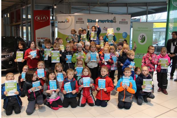 Kindersprint Borsdorf, Siegerfoto 1. Klasse Quelle: Kindersprint