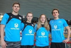 SSG-Trainingsgruppe (v.l.): David Thomasberger, Lia Neubert, Marie Pietruschka, Thomas Rohmberger. Foto: Jan Kaefer