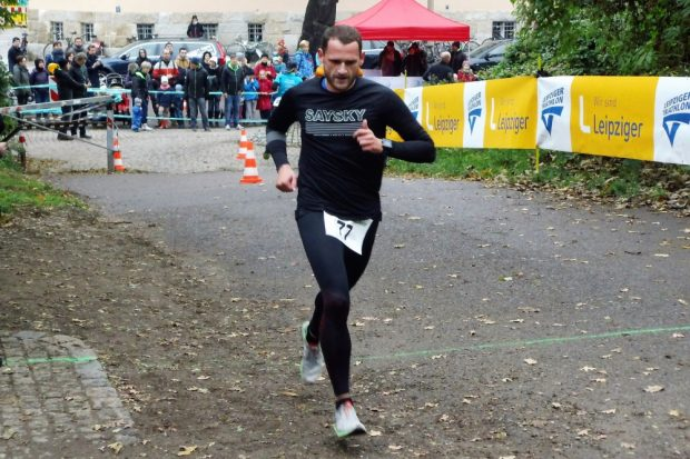 Dauerläufer Hagen Jahn beim Leipziger Triathlon. Foto: privat