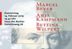 Lessing Preisträger 2019. Quelle: Sächsischer Literaturrat e.V.