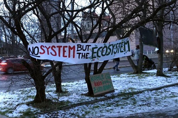 Am 4. Februar 2019 noch auf der Klima-Demo dabei. Ende Gelände am Ende einer Aktionswoche in Leipzig. Foto: Michael Freitag