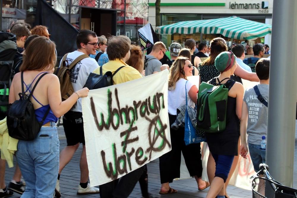Immer wieder Thema für Demos und Protest: fehlender und überteuerter Wohnraum. Foto: Michael Freitag