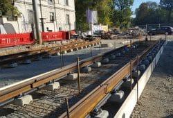 Neue Gleise an der Plagwitzer Brücke. Foto: Marko Hofmann