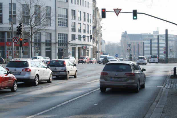 Kreuzung Martin-Luther-Ring / Harkortstraße. Foto: Ralf Julke