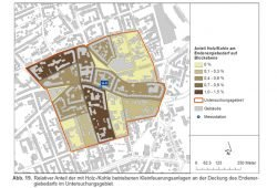 Das Untersuchungsgebiet zu Kleinfeuerungsanlagen in Lindenau. Grafik: Stadt Leipzig, Luftreinhalteplan 2018