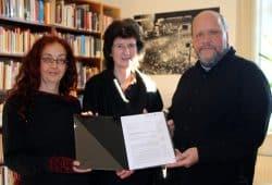 Dr. Saskia Paul,Eva-Maria Stange und Uwe Schwabe. Foto: Ralf Julke