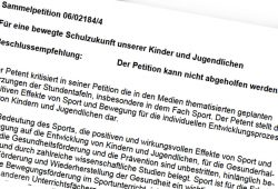 Petition abgelehnt. Screenshot: L-IZ