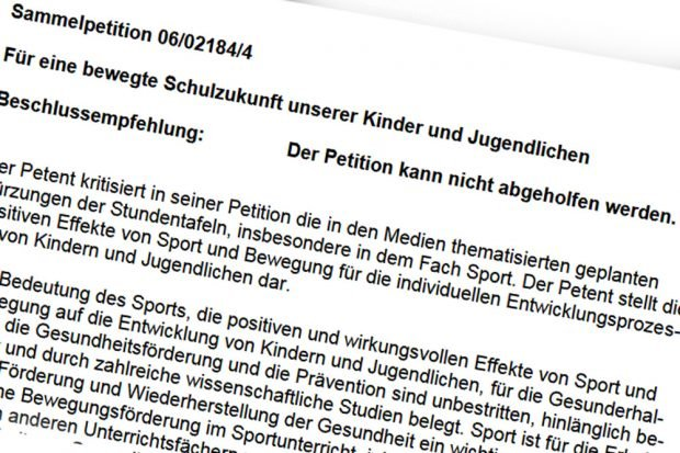 Petition abgelehnt. Screenshot: L-IZ