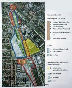 Die geplanten Baufelder.Grafik: Stadt Leipzig, Stadtplanungsamt