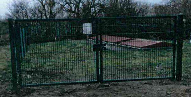 Das gestohlene Einfahrtstor. Foto: PD Leipzig
