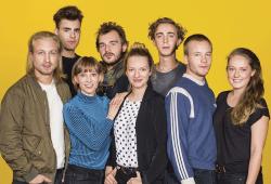Die HMT-Studierenden am Schauspielstudio Dresden. Foto: Sebastian Hoppe