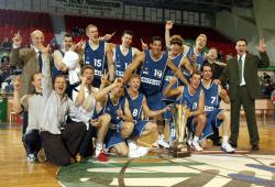 Die Helden von Izmir: Stephen Arigbabu in der Mitte (12). Quelle: Mitteldeutscher Basketball Club