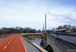 Vorschlag einer Radbrücke parallel zur Jahnallee. Foto: Henrik Fischer, Orf3us Wikimedia