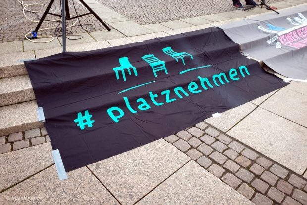 """""""Leipzig nimmt Platz"""" ist ebenfalls Teil der Initiative """"Leipzig liest weltoffen"""". Foto: Marco Arenas"""