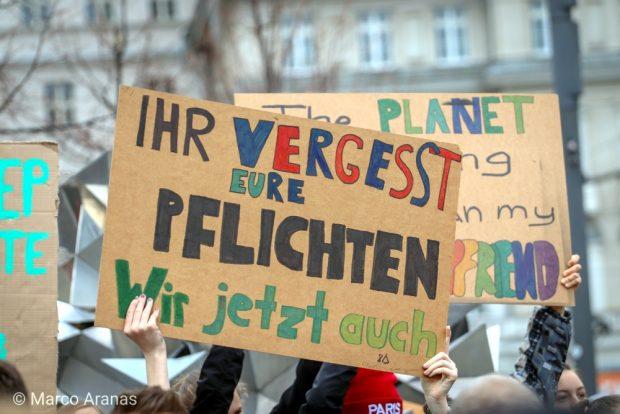 Die Antwort auf die Schulsstreikdebatte. Foto: Marco Arenas