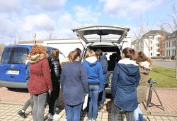 Schau rein! Das Innenleben eines Blitzerautos. Foto: Landratsamt Landkreis Leipzig