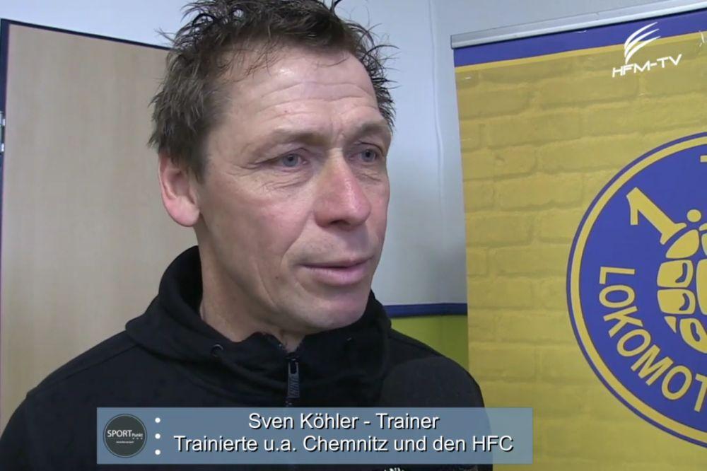 Sven Köhler - Trainer des VfB Auerbach - im Interview mit Sportpunkt. Screenshot: Sportpunkt