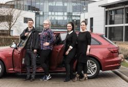 Das Therapieteam: Thomas Herzog, Sarah Seiler, Tina Schulze und Janine Hoyas (v.l.n.r.). Foto: Christian Hüller